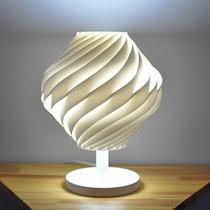 Abajur Twist Com Pedestal E Base Branca
