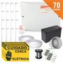 Kit Cerca Elétrica 70 Metros Completo Setor Alarme + Brinde