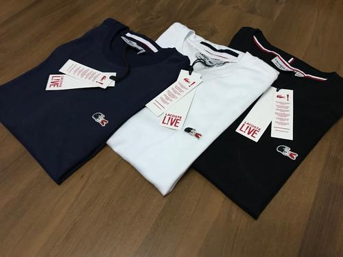 Promoção 3 Camisetas Lacoste Peruana France Top - R  279 en Melinterest 19c7311d0b