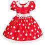 Fantasia Minnie Vermelha Infantil