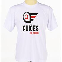 Camiseta Camisa Branca Estampada Banda Aviões Do Forró