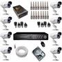 Kit 8 Câmeras Monitoramento Completo Gravador Acesso Celular