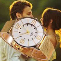 Kit Com 10 Relógios Feminino Atacado Dourados Revenda Novo