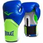 Luva Boxe Muay Thai Everlast Elite 12 Oz - Azul Verde