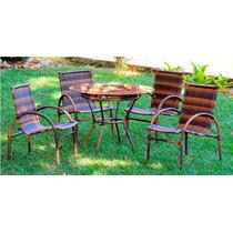 Mesa C/ 4 Cadeiras Solano Flex - Área Externa