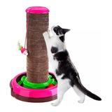 Arranha Céu Cat Brinquedo 3 Em 1 Truqys Pets Rosa