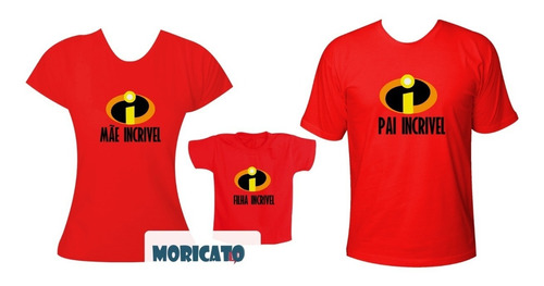 44559e2b1 Camisetas Da Família Incrível 3 Peças Pai, Mãe, Filha(o) à venda em ...