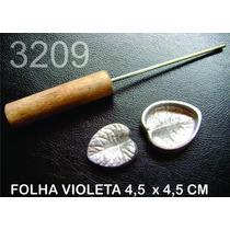 Frisador Eva E Tecido Folha Violeta 3209 Frete Grátis