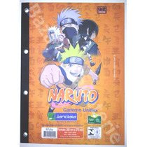 Bloco De Fichario Naruto Caderno Uniflex Universitario 96 Fl