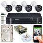 Kit 4 Câmeras Intelbras Multi Hd G4 720p Dvr 4 Ch Mhdx 1104