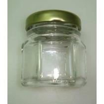 10 Potes De Vidro Para Lembrancinhas Sextavado 40ml