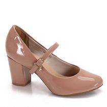 Sapato Boneca Salto Feminino Dariely - Nude