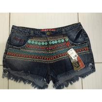 Short Fill Sete Pedras Jeans Luxo Tamanho 44