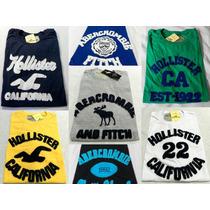 Kit C/ 10 Camisetas Hollister Abercrombie Atacado