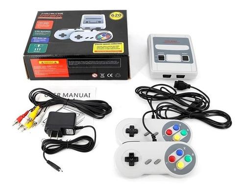 Super Mini Sfc Retrô 620 Jogos 2 Controles Envio Imediato Rj