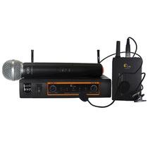 Microfone Sem Fio Duplo Uhf Kadosh Kdsw 482c