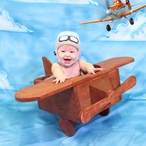 Newborn Bebê Avião Em Madeira Acessórios Fotográficos Studio