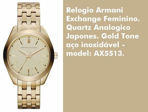 2d13e974b17 Relógio Armani Dourado Ax5513 Original