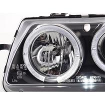 Farol Projector Angel Eyes Gm Astra 95 Até 97 Black - O Par