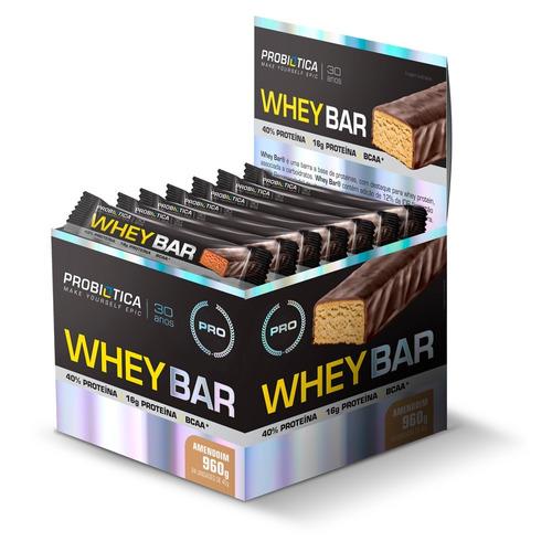 Barra Proteica Whey Bar Caixa 24 Barras - Probiótica