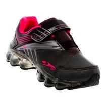 Tênis Infantil Klin Com Luzes Velcro Criança Lindo 470023