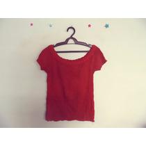 Blusa Feminina Vermelha Tricot Detalhe Trancado Cód. 306