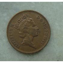 1552 Inglaterra 2 New Pence, 1988 , Elizabeth Bronze, 26 Mm