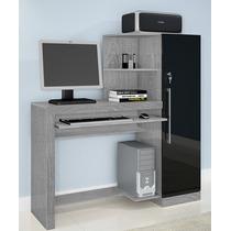Escrivaninha, Mesa Para Computador - Prata/preto