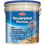 Tinta P/ Piscina Base Agua Azul Piscina 10 Lts Recubriplast