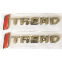 Kit 2 Emblemas I-trend I Trend Gol Parati Saveiro Fox Voyage