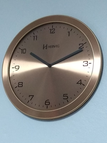 739acfaa8a8 6456-309 Relógio Parede Slean Alumínio Bronze 30 Cm X 1 Cm