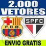 Vetores Times De Futebol Brasões Clubes Copa Corel + 2.000