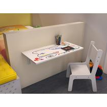 Mesa Infantil Dobrável - Kit Com 2 Cadeiras 70 X 40