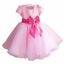Vestido Festa Infantil Princesa Aniversário Dama Barbie