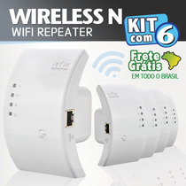 Kit Com 6 - Wifi Repeater N - Repetidor 300mbps Amplificador