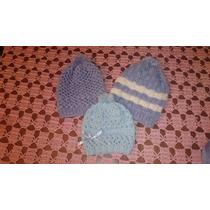 Touca De Tricô Feita A Mão Para Bebê (coloridas)