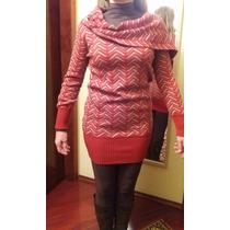 Vestido De Inverno Em Lã Gola Boba - Lindo E Quentinho