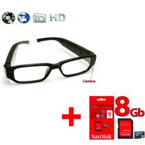 Óculos Espião Com Qualidade Hd 720p Discreto + Micro Sd 8 Gb