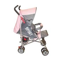 Carrinho Bebê Berço Guarda Chuva Veloce Reclinável Rosa