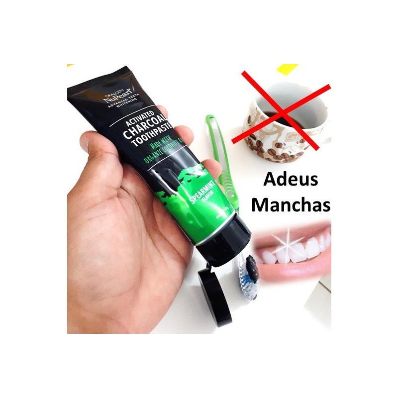 Carvao Ativado Pasta Preta Clarear Dente Clareamento Oralgen Em