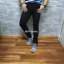 Calça Sarja Jeans Masculina Skinny Com Lycra Coloridas