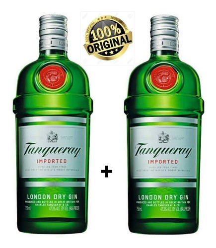 Kit 2 Gin Importado London Dry Tanqueray Garrafa 750ml