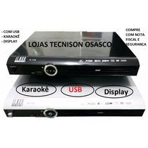 Dvd Player Toca Tudo Display( Visor) Usb Karaokê Ilkon-k133