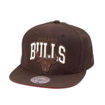 Boné Mitchell And Ness Snapback Chicago Bulls Brown