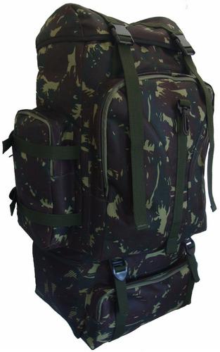20871f488 Mochila Grande Capacidade Camping Militar Lona 45 Litros