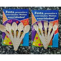 10 Garfos De Madeira P/ Lembrancinha Bolo Brigadeiro Pote