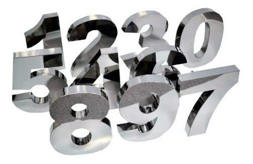 Letras Em Aço Inox Letreiro Números 3d Fachada Logomarca Aco