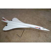 Maquete De Avião Importada Desktop 1:100 Concorde British