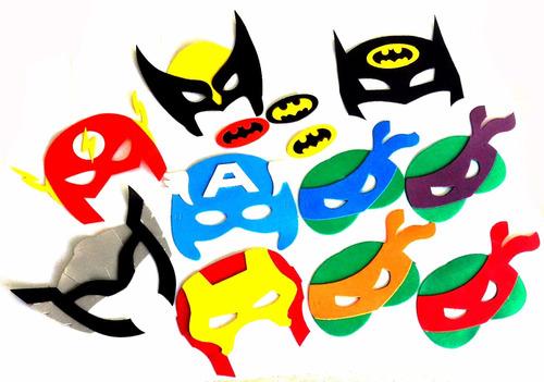 51209602f Máscaras Tartarugas Ninjas Eva Super Heróis Vingadores 4unid à venda ...