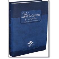 Bíblia Sagrada Letra Gigante Corrigida Masculina Índice Azul